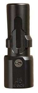 SilencerCo  3-Lug Muzzle Device 45 ACP 9/16-24 Threads Black