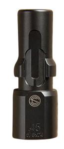 SilencerCo  3-Lug Muzzle Device 45 ACP M16x1 LH Threads Black