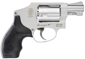 "Smith & Wesson 103810 642 Airweight Double 38 Special 1.875"" 5 rd Black Synthetic Grip Stainless"