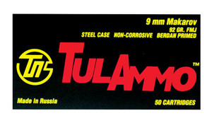 Tulammo TA918092 Handgun  9x18 Makarov 92 GR Full Metal Jacket 50 Bx/ 20 Cs