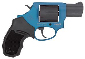 Taurus 2856021ULC09 856 Ultra-Lite 38 Special 6 Round 2 Black/Azure Black Rubber Grip