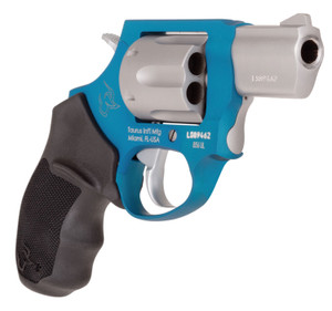 Taurus 2856029ULC09 856 Ultra-Lite 38 Special 6 Round 2 Stainless/Azure Black Rubber Grip
