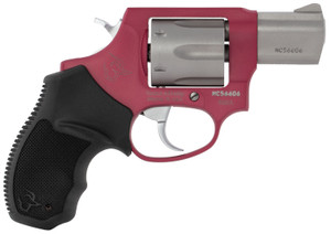 Taurus 2856029ULC10 856 Ultra-Lite 38 Special 6 Round 2 Stainless Steel/Rouge Black Rubber Grip