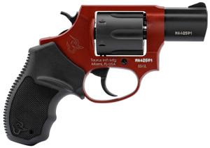 Taurus 2856021ULC13 856 Ultra-Lite 38 Special 6 Round 2 Matte Black/Burned Orange Black Rubber Grip