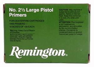REM PRIMERS-LARGE PISTOL 5000-PK (5EA.-1000 PACKS)