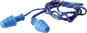 WALKERS EAR PLUGS BRAIDED CORD RUBBER 27dB BLUE 1-PAIR