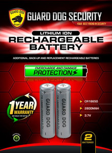 GUARD DOG RECHARGEABLE LITHIUM ION BATTERY 2-PACK