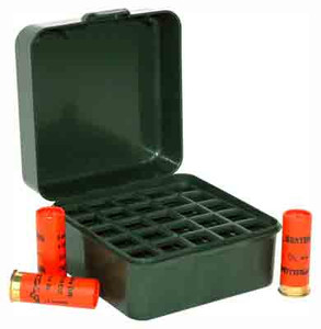 MTM AMMO BOX SHOTSHELL TO 3 1216& 20GA. 25-ROUNDS F GRN