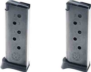 RUGER MAGAZINE LCP .380ACP 6-ROUNDS W/FINGER EXT. 2-PACK