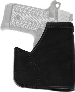 GALCO POCKET PROTECTOR HOLSTER RH LEATHER M&P SHLD 9/40/45 BL