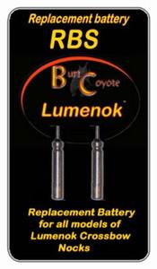 LUMENOK REPLACEMENT BATTERY FOR LIGHTED BOLT NOCK 2PK