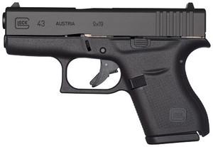 GLOCK 43 9MM LUGER FS 6-SHOT BLACK 5412