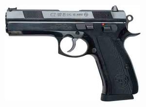 CZ 97-B .45ACP FS 10-SHOT POLYCOTE BLACK ALUMINUM GRIPS 8164