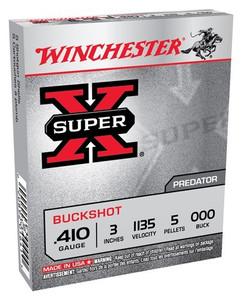 WIN AMMO SUPER-X .410 3 1135FPS. 000BK 5-PELLETS 5-PK.
