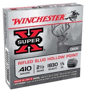 WIN AMMO SUPER-X SLUGS .410 2.5 1830FPS. 1/5OZ. 5-PACK