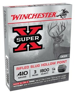 WIN AMMO SUPER-X SLUGS .410 3 1800FPS. 1/4OZ. RIFLED 5-PACK