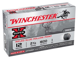 WIN AMMO SUPER-X SLUGS 12GA. 2.75 1600FPS. 1OZ. RIFLED 5PK