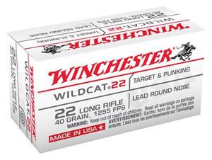 WIN AMMO WILDCAT .22LR 1255FPS. 40GR. LEAD-RN 50-PACK