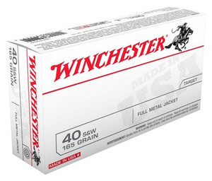 WIN AMMO USA 40SW 165GR. FMJ TRUNCATED CONE 50-PACK