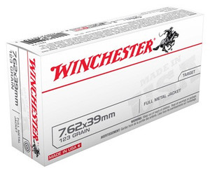 WIN AMMO USA 7.62X39 123GR. FMJ 20-PACK