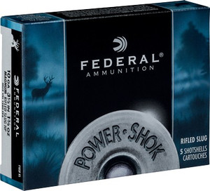 FED AMMO RIFLED SLUG 10GA. 3 1/2 1 3/4 OZ. HP 5PK