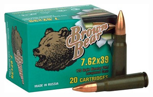 BROWN BEAR 7.62X39 123GR. FMJ 500RD CASE
