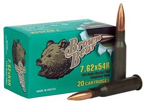 BROWN BEAR 7.62X54R 174GR FMJ 20-PACK