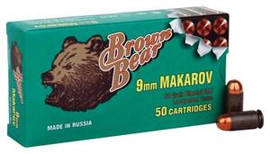 BROWN BEAR 9X18MM MAKAROV 94GR. FMJ-RN 50-PACK