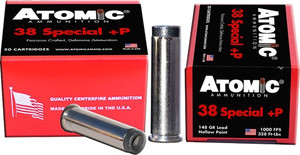 ATOMIC AMMO .38 SPECIAL +P 148GR. WC UP-SIDE-DOWN 20-PACK