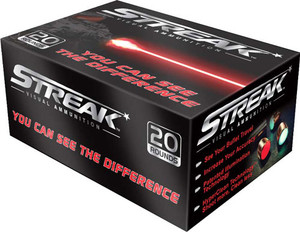 AMMO INC .38SPL 125GR. JHP STREAK RED 20-PACK