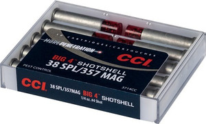 CCI AMMO .38/357 SHOTSHELLS 110GR. #4 SHOT 10-PACK