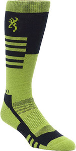 BG UNISEX ELM SOCKS M/L BLACK & GREEN CALF HEIGHT