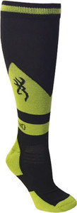 BG UNISEX BUCKEYE SOCKS M/L BLACK & GREEN CALF HEIGHT