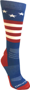 BG UNISEX STARS & STRIPES SOCKS M/L RED WHITE AND BLUE