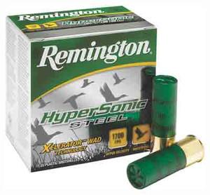 REM AMMO HYPERSONIC STEEL 25PK 12GA 3 1700FPS. 1-1/4OZ. #1