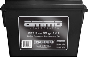 AMMO INC .223 REM 55GR FMJ 200RD AMMO CAM