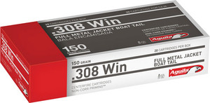 AGUILA AMMO 308WIN 150GR. FMJBT 20-PACK