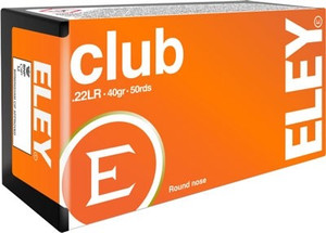 ELEY CLUB 22LR 40GR. ROUND NOSE 50 PACK