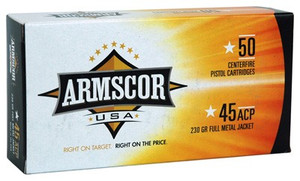 ARMSCOR AMMO .45ACP 230GR. FMJ 50-PACK MADE IN USA