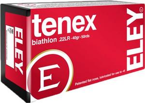 ELEY TENEX BIATHLON 22LR 40GR. FLAT NOSE BULLET 50-PACK