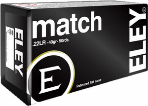ELEY MATCH 22LR 40GR. EPS 50 PACK