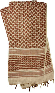 RED ROCK SHEMAGH HEAD WRAP TAN/BROWN