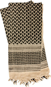 RED ROCK SHEMAGH HEAD WRAP KHAKI/BLACK