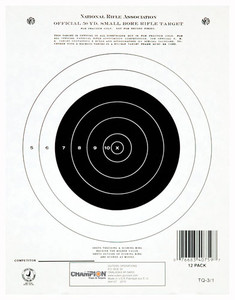 CHAMPION TGT PAPER 7X9 50YD. SMALL BORE RIFLE 12PK