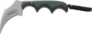 CRKT KERAMIN 2.31 FIXED PLAIN EDGE FULL TANG BLADE