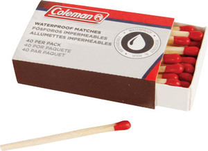 COLEMAN WATERPROOF MATCHES 40 MATCHES PER BOX