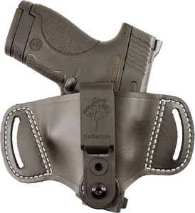 DESANTIS OUTBACK HOLSTER AMBI IWB/OWB LEATHER SMALL AUTOS BL