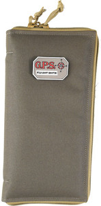 GPS PISTOL SLEEVE LARGE LOCKBL ZIPPER RIFLE GREEN/KHAKI NYLON