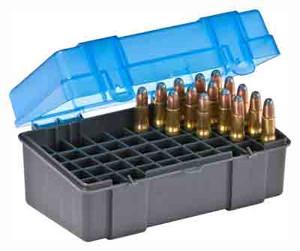 PLANO AMMO BOX SMALL RIFLE 50-RNDS FLIP TOP