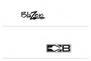 BOHNING BLAZER VANES 2 SOLID WHITE 100PK